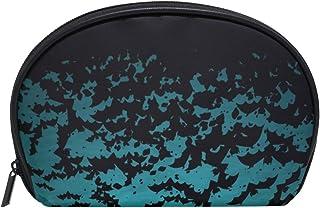 MASSIKOA Halloween Moon And Bats Cosmetic Bag Travel Handy Organizer Pouch Makeup Bags Purse for Women Girls