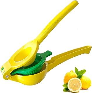 Exprimidor de limón,prensa de cítricos manual de metal resistente para limones, naranjas de lima y extracto de todos los j...