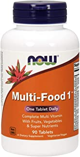 NOW Supplements, Multi-Food 1 with Fruits, Vegetables and Super Nutrients, 90 Tablets