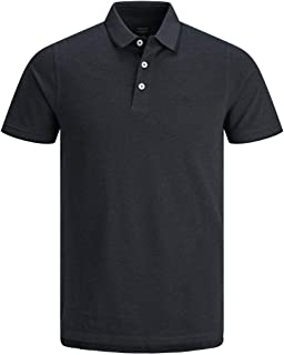 JACK & JONES Men's Jjepaulos Polo Ss Noos Shirt, Grey (Dark Grey Melange Detail: Slim Fit - Melange), XX-Large