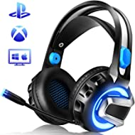 NiceWell Gaming Headset for Xbox One, PS4, PC, Gaming Headphones with Microphone, LED Light,...