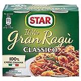 star il mio granragù classico, ragù tradizionale, 100% carne italiana controllata. senza conservanti e senza glutine., 180 g - confezione da 2