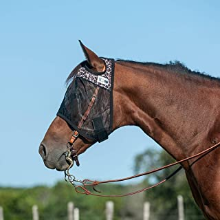 Cashel Quiet Ride Leopard Fly Mask Without Ears (Horse)