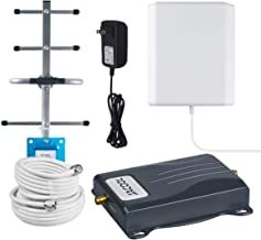 AT&T Cell Phone Signal Booster 4G LTE T-Mobile AT&T Signal Booster 700MHz Band 12/17 ATT Cell Signal Booster High Gain 65dB Mobile Phone Signal Repeater Amplifier for Home with Panel/Yagi Antennas