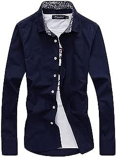 【 Smaids×Smile 】 メンズ 長袖 シャツ 花柄 トップス 襟付き スリム シンプル 無地 おしゃれ 秋冬