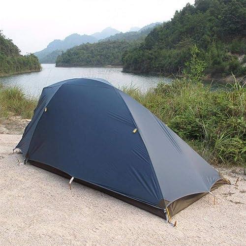 ZZPEO Tente De Camping Enduite De Silicium Double Face en Aluminium De Double Couche Polonais 20D D'Utilisation De Personne 1-2