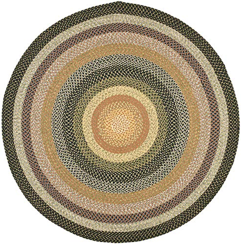 Safavieh Braided Collection BRD308A Hand-woven Reversible Area Rug, 4' Round, Multi