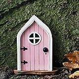 Fairy Door in Pink-Fairy Door for Tree-Fairy Garden-Fairytale Door - Tooth Fairy Door-Fairies Sleeping Door and Windows Tree Statues-Tree Hugger Yard & Garden Sculptures Fairy Mystical Home