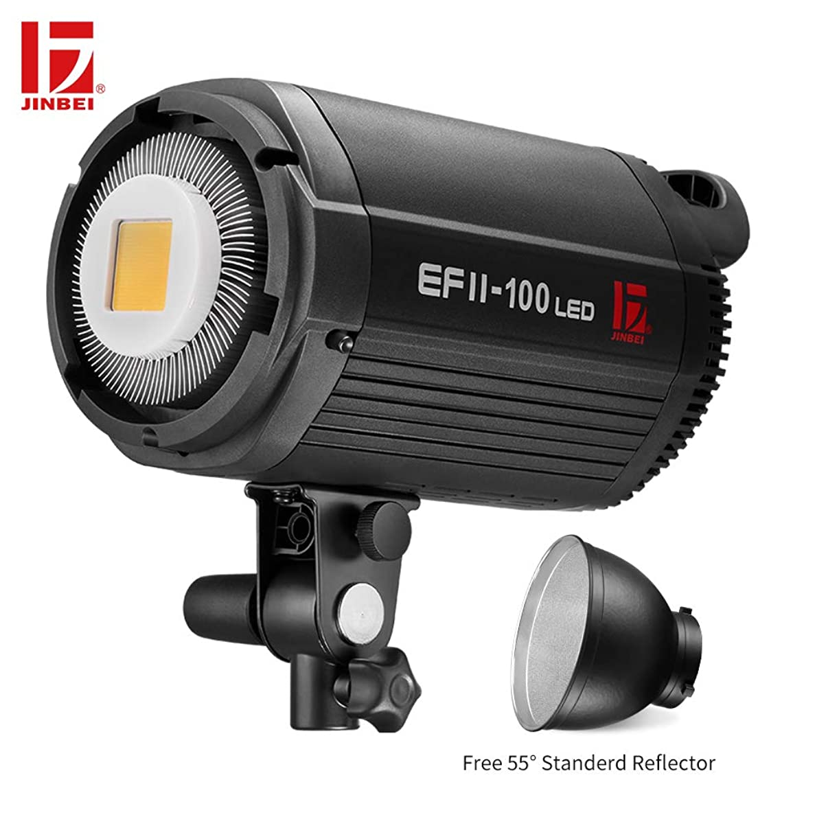 JINBEI EFII-100 100Ws Dimmable LED Portable Continuous Lamp with Bowens Mount Daylight Balanced Video Light 5500K for YouTube Vine Portrait Photography Video Lighting Studio Interview RA 95+