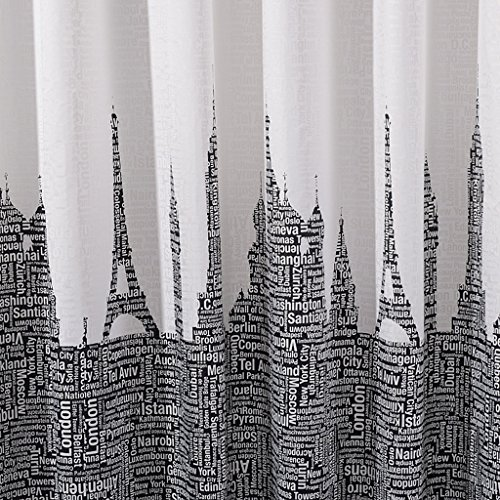 XYHX badkamer douchegordijn waterdichte meeldauw gemakkelijk te reinigen polyester stof patroon gratis douchegordijn haak
