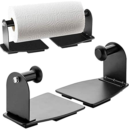Katzco Magnetic Paper Towel Holder - Heavy Duty Steel Holder with Magnetic Backing - Sticks to Any Ferrous Surface - for Kitchen, Work Benches, Storage Closets, Grill, Garage