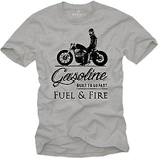 Idee Cadeau Motard R100 Cafe Racer Girl Makaya T-Shirt Homme Moto Vintage