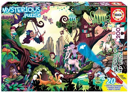 Educa - Mysterious Puzzle: Bosque Mágico, 200 Piezas, Multicolor (18612)