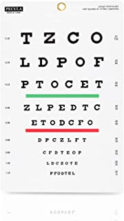 Eye Chart, Snellen Eye Chart, Wall Chart, Snellen Charts for Eye Exams 10 feet 9 X 14 in.