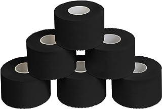 comprar comparacion ALPIDEX 6 x Cinta Adhesiva Deportiva 3,8 cm x 10 m, Color:Negro
