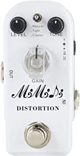MIMIDI Distortion Pedal for Electric Guitar Effect Guitar Pedal True Bypass (302 Distortion)