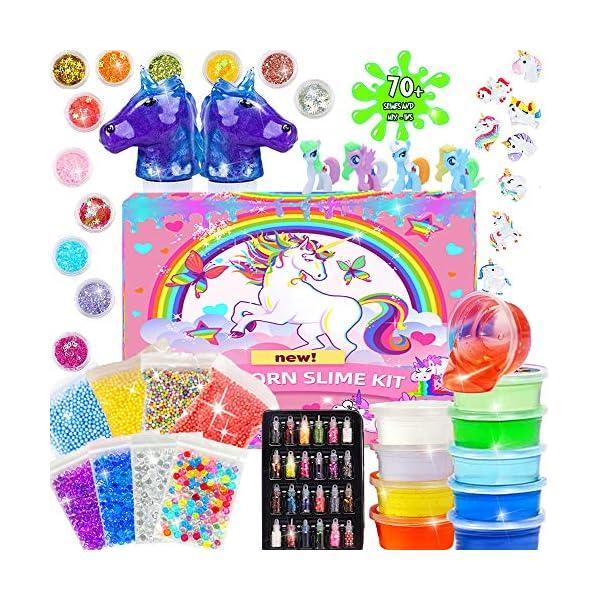 Unicorn Slime Kit - Slime Supplies Slime Making Kit for Girls Boys, Kids Art Craft, Crystal Clear Slime, Glitter… 3