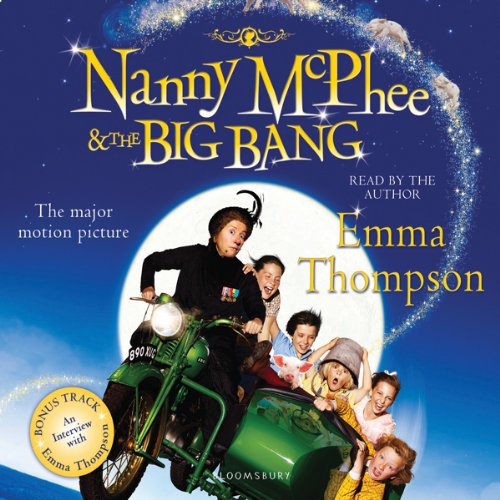 Nanny McPhee and The Big Bang audiobook cover art