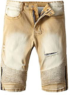 c051dc87e6 Willsa Mens Shorts, Fashion Zipper Crumple Fit Straight Denim Vintage Style  Jeans Pants