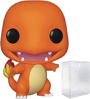 Juegos Funko: Pokemon - Charmander Pop! Figura de vinilo (incluye funda protectora compatible con Pop Box).