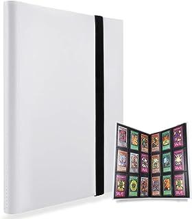 360ポケットトレーディング カードアルバム 、サイドローディングPPポケット、ポケモンカードと互換性のあるカードバインダーポケットサイズ (白)