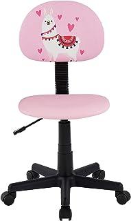 IDIMEX Chaise de Bureau pour Enfant Alpaca Fauteuil pivotant et Ergonomique sans accoudoirs, siège à roulettes avec Hauteu...