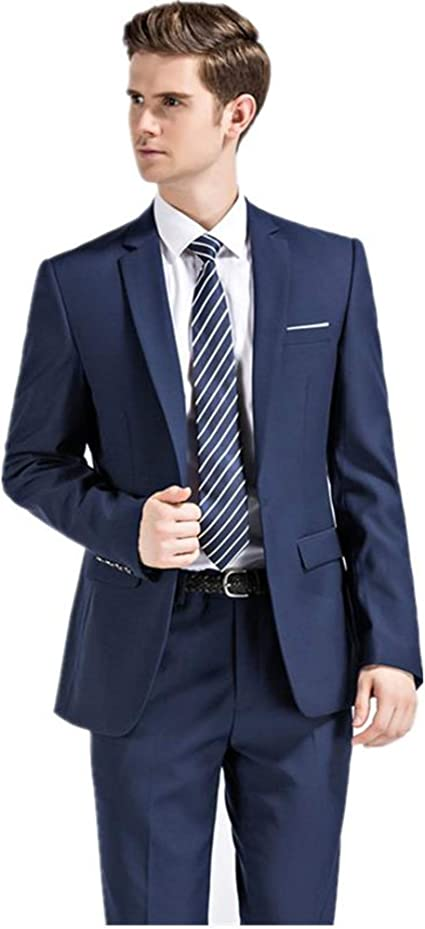 N/F Traje Azul Traje de Boda para Hombre Traje de Negocios ...