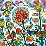 Home Collection Hogar Cocina Decoración Accesorios Set 40 Servilletas Papel Desechable 3 Velos 33 x 33 cm Motivo Flores Pájaros