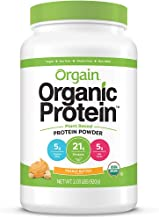 Orgain Organic Plant Based Protein Powder, Peanut Butter - Vegan, Low Net Carbs, Non Dairy, Gluten Free, Lactose Free, No ...