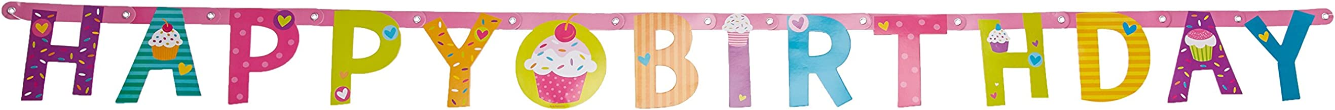 Illustrated Letter Banner | Cupcakes Collection | Birthday