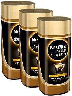 NESCAFÉ Gold Typ ESPRESSO, hochwertiger Instant Espresso mit 100% feinen Arabica Kaffeebohnen, koffeinhaltig, mit samtiger Crema, 3er Pack 3 x 100g