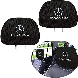 Fubai Auto Parts Set of 2 for Mercedes-Benz Embroidered Headrest Covers, Car Truck SUV Van Headrest Covers for Mercedes Benz (Fit Mercedes-Benz)