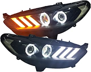 Generic for FORD Fusion Titanium Mondeo LED angel eyes Head Lamps 2013-2015 year JC
