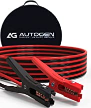 AUTOGEN Heavy Duty Jumper Cables 2 Gauge x 25Ft 800A Booster Cables cables with Professional Grade Clamps - UL Listed