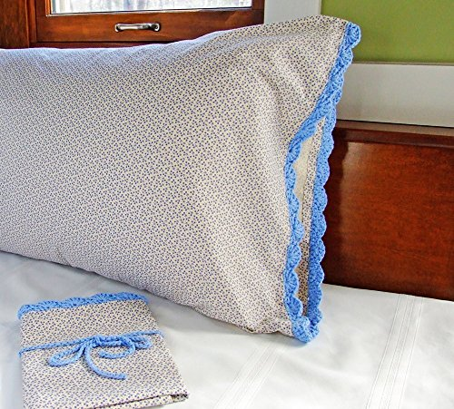 Vintage Set Cannon King Size White Pillowcases With Pink Crochet Edge