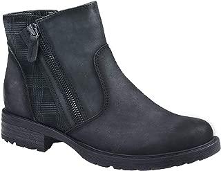 Earth Origins Women's Jordan Leather Side Zip Ankle Boots