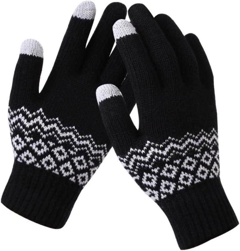 MDHANBK Men's Women's Winter Warm Knitted Thick Stretch Gloves Women's Warm Casual Backless Gloves Girls' Mittens