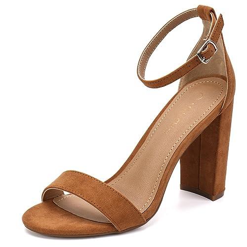 a50f9a086d8 Moda Chics Women s High Chunky Block Heel Pump Dress Sandals
