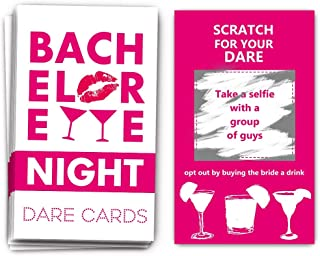 40 Bachelorette Party Drinking Game Dare Card - Bachelorette Scratch Off Cards - Perfect for Girls Night Out Activity,Bridal Showers, Bridal Parties,Girl Party - Bachelorette Night Dare Card - 40 sheets