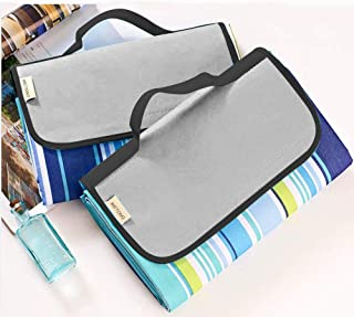 WETONG Extra Large Outdoor Waterproof Foldable Picnic Blanket Tote for Family Concerts, Hiking,Beach,Party,Camping on Grass Sandproof Water-Resistant Handy Picnic Mat Tote 80