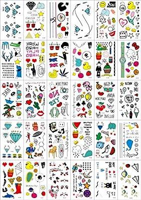 30 Hojas Tatuajes Temporales