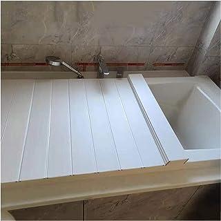 ZHANWEI 浴槽カバー 防塵ボード 風呂ふた,防塵・滑り止め 多機能、 断熱カバー バスタブラック 折りたたみ式 (Color : White, Size : 170x70x0.6cm)