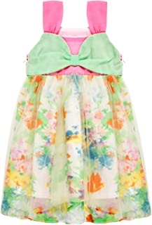 Bonny Billy Toddlers Baby Girl's Clothes Off-Shoulder Big Bow Detail Top Tulle Dress 6M-4T