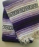 Mexitems Mexican Falsa Blanket Authentic 52' X 72' Pick Your Own Color (Purple/Lilac/Black)