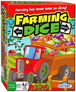 Outset Media Farming Dice - A Game Of Chance, Probability, Math, And Strategy - A Fun Family Dice Rolling Game (Ages 7 )