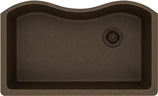 Elkay ELGUS3322RMC0 Quartz Classic Single Bowl Undermount Sink, Mocha