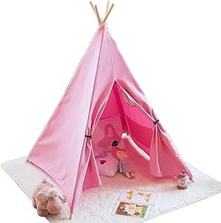 Tält Barn, Bomullsduk Barn Tält Inomhus Lekstuga För Inne, Barn Lektält, Barn Tält Med Fönster, Lätt Att Ställa In, Hem De...