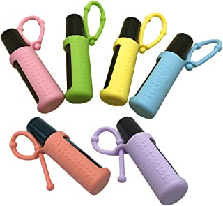 Silicone Roller Bottle Holder Sleeve,6pcs Essential Oil Carrying Case Travel Protective Cover for 5ML/10ML/15ML Oil Bottle (10ML)