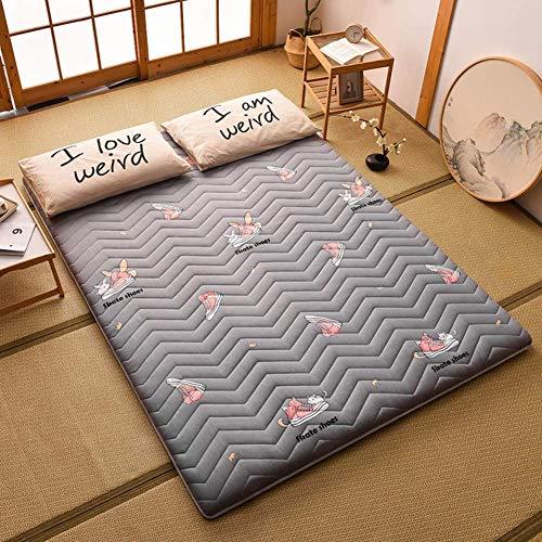 YDYL-LI Schlafmatte Tatami, faltbar, Futon-Tatami-Matratze, weich, dick, aufrollbar, japanische Studenten-Schlafmatte, 90 x 200 cm, C, 100x200cm(39x79inch)