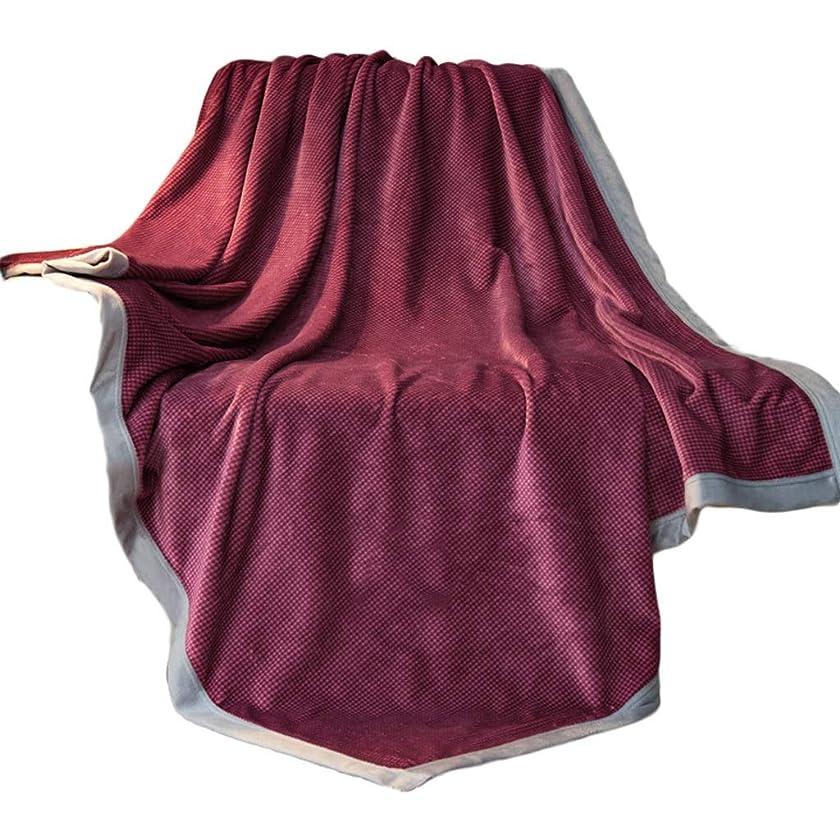 露出度の高い武器創傷毛布厚手のダブル春と夏シングル昼寝暖かい冬の毛布キルトソファベッド毛布乳母車/旅行 ZHAOSHUNLI (Color : Wine red, Size : 180*200cm)